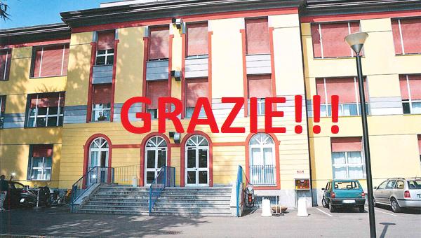 GRAZIE!!! Esito raccolta per Ospedale Zappatoni….GRAZIE!!!